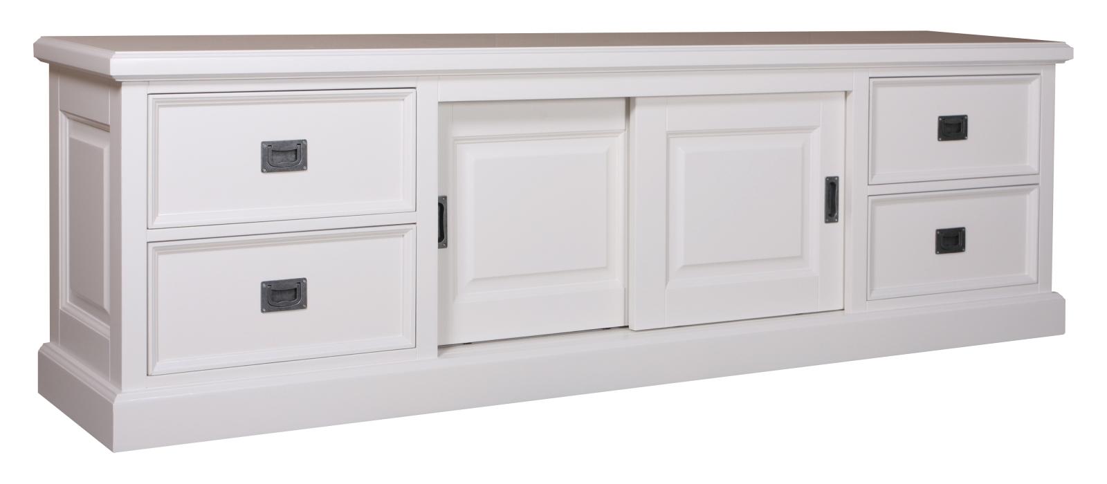 Meuble TV Eyeglass 2 portes 4 tiroirs - Produit - XO Interiors